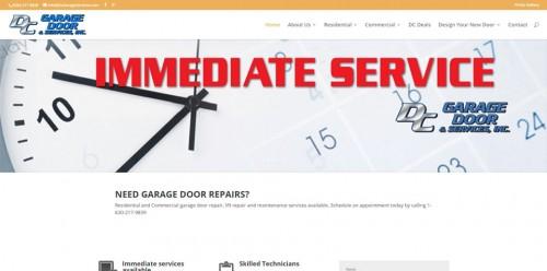 DC Garage Door Service Website Redesign Image